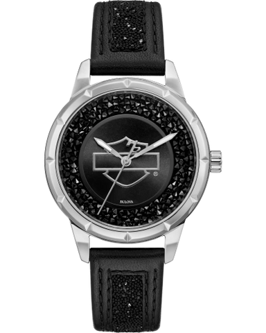 Black Embellished Watch