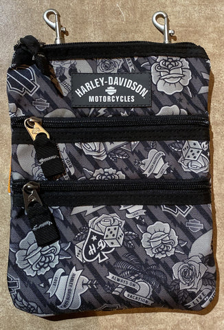 Gray Tattoo Cross Body Sling