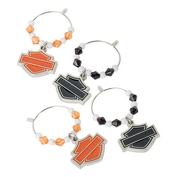 Silhouette Bar & Shield Wine Charms