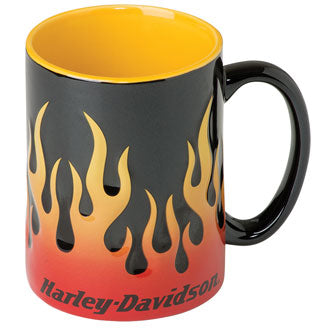 H-D™ Core Sculpted Flames Mug