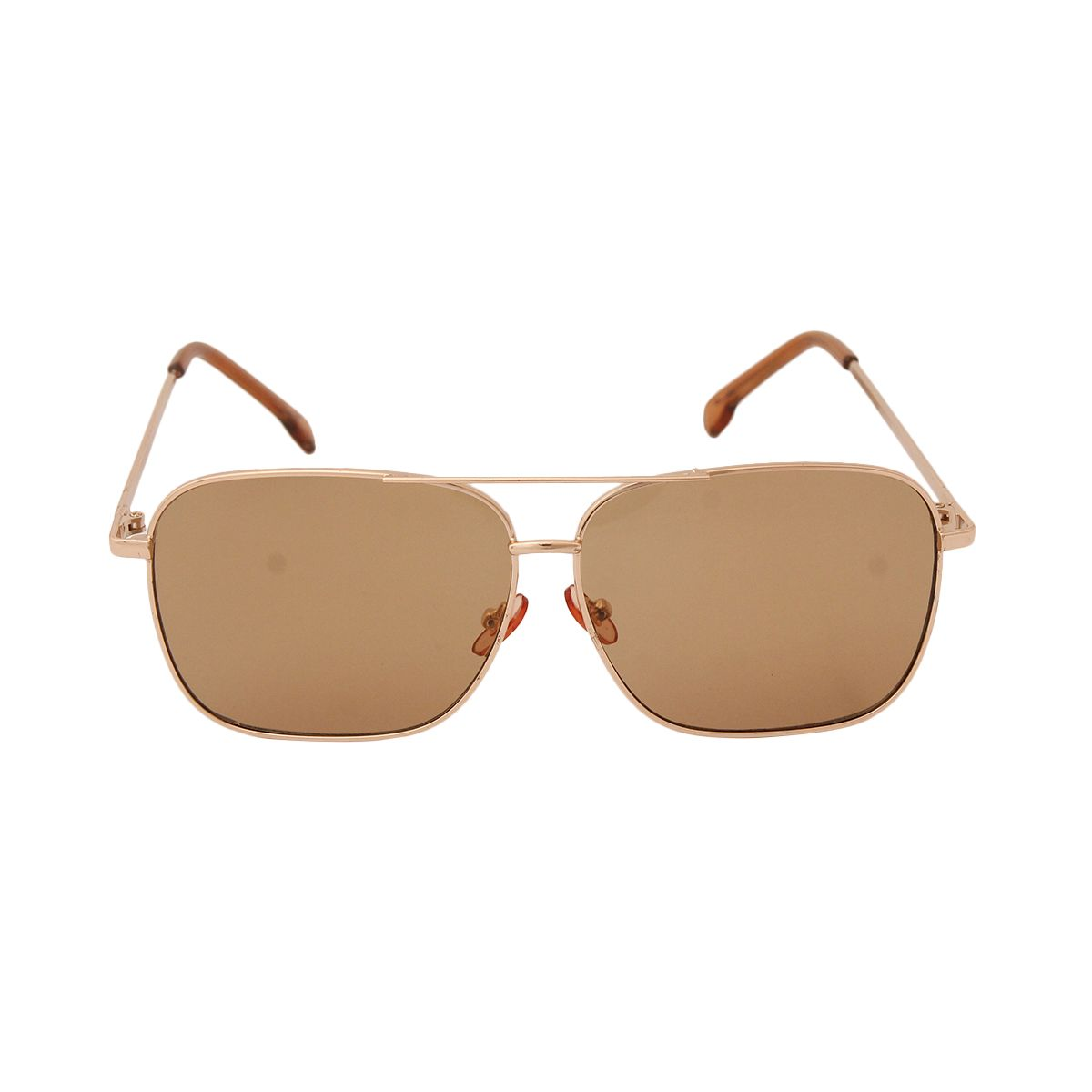 Brown and Gold Square Aviators