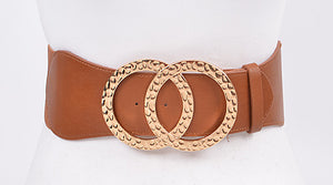 Hammered Dual Loop Belt