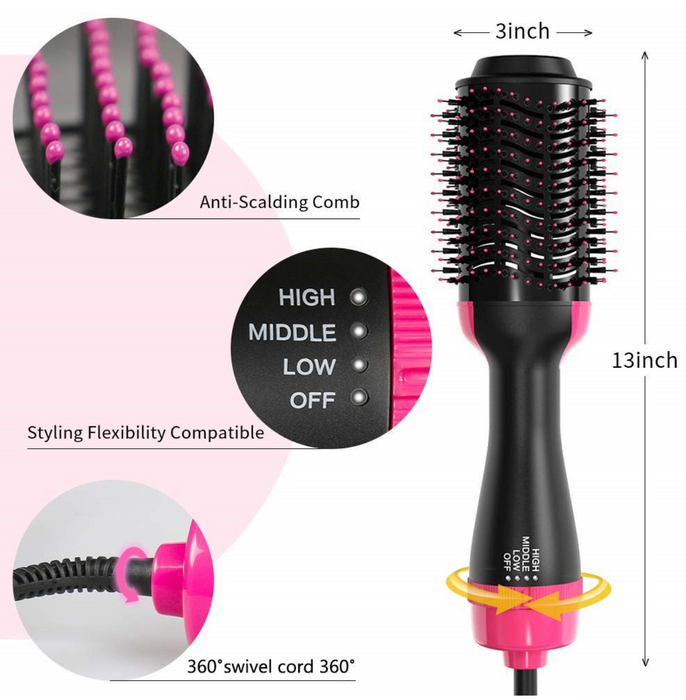 2 in 1 Hair Dryer & Blowout Brush