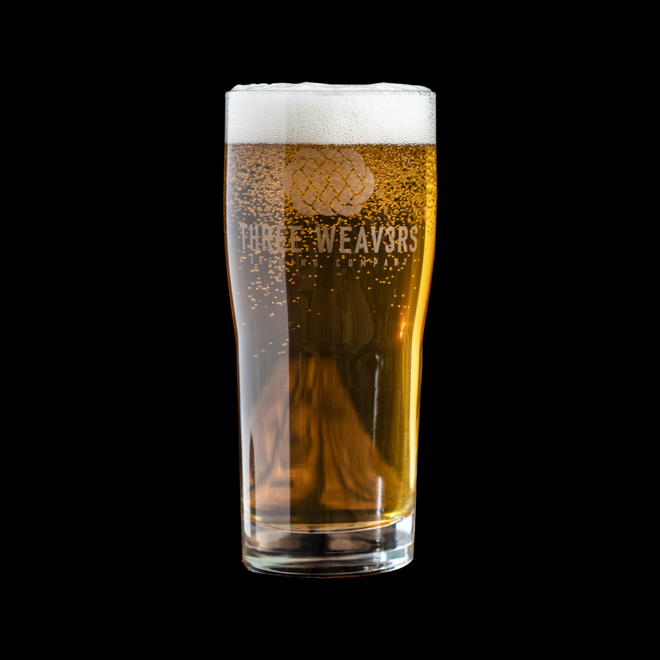 Three Weavers Pint Glass
