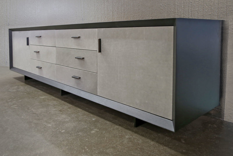 Murlough Leather-Wrapped Dresser Dresser sentientfurniture