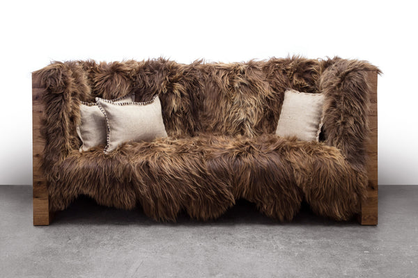 Sentient Long Wool Sofa Sofa sentientfurniture