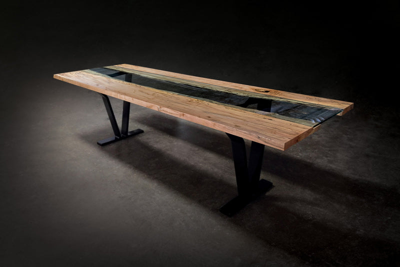 Colorado Live Edge River Dining Table Table sentientfurniture