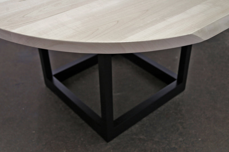 Flow Pedestal Table with Frame Legs Table sentientfurniture