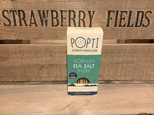 Popti Cornish Sea Salt Savoury Thins