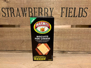 Marmite Biscuits for Cheese