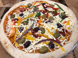 Homemade Mediterranean Vegetable Pizza