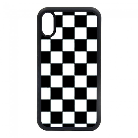 black and white checkered phone case iphone