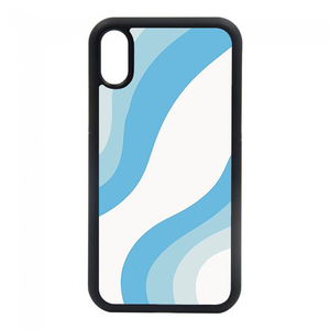 blue curvy phone case for iphone 6, iphone 7, iphone 8, iphone plus, iphone max, iphone x, iphone xs, iphone 11, iphone pro