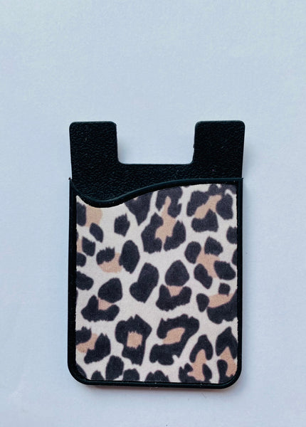 card holder cheetah credit card iphone phone case