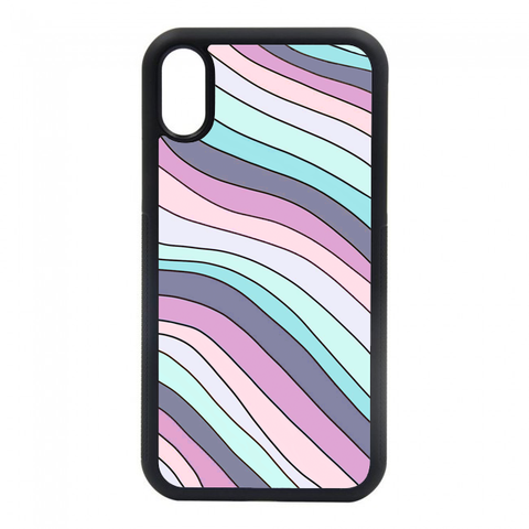 blue wavy striped phone case. we have phone cases for most of your iphones. iphone 6, iphone 6s, iphone 7 8, iphone 7 8 plus, iphone SE, iphone xs, iphone x, iphone xr, iphone xs max, iphone 11, iphone 11 pro, iphone 11 pro max.