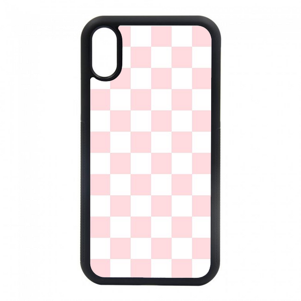 pink checkered iphone case phond
