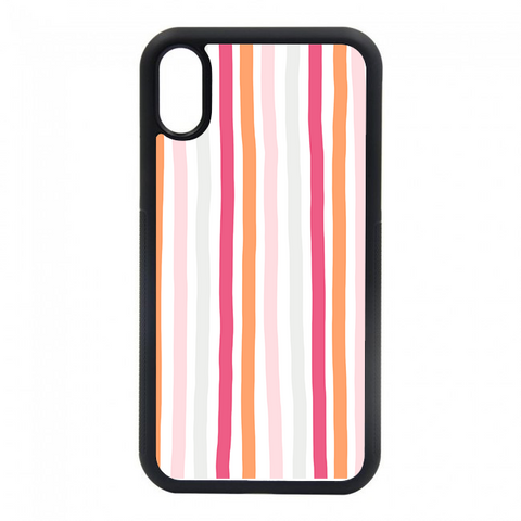 pink and orange striped phone case. we have phone cases for most of your iphones. iphone 6, iphone 6s, iphone 7 8, iphone 7 8 plus, iphone SE, iphone xs, iphone x, iphone xr, iphone xs max, iphone 11, iphone 11 pro, iphone 11 pro max.