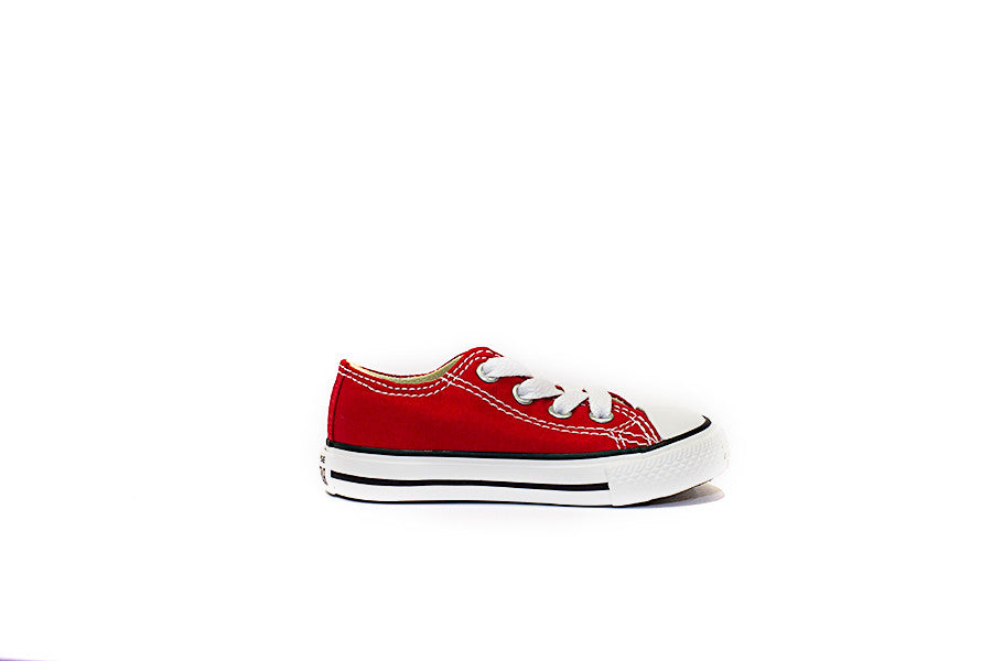 CONVERSE ALL STAR OX JUNIOR 7J236 colore rosso