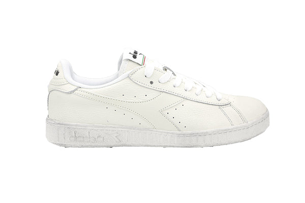 Diadora Game L Low Waxed A72936 BIANCO