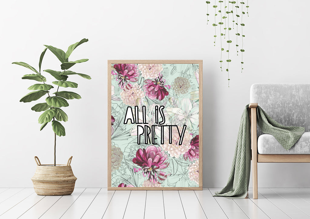 "Plakat ""All is pretty"""