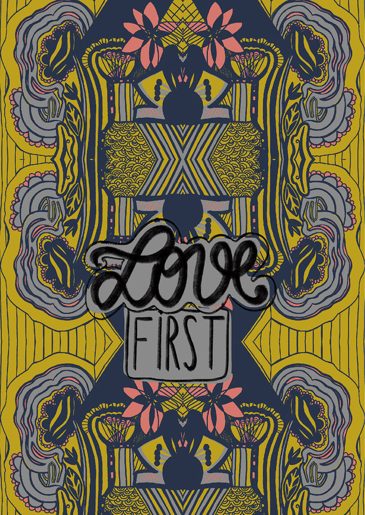 "Plakat ""Love first"""