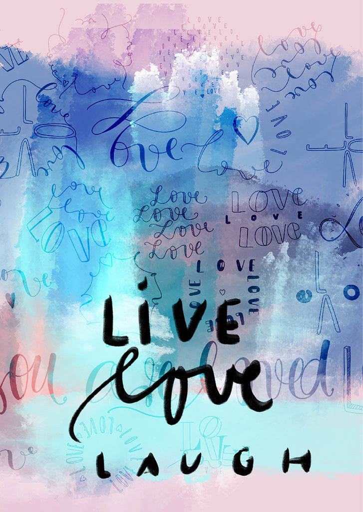 "Plakat ""Live, love, laugh"""