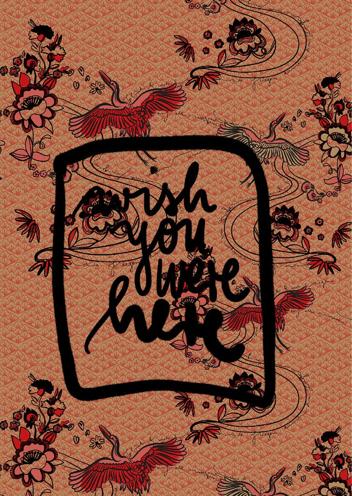 "Plakat ""Wish you were here"""