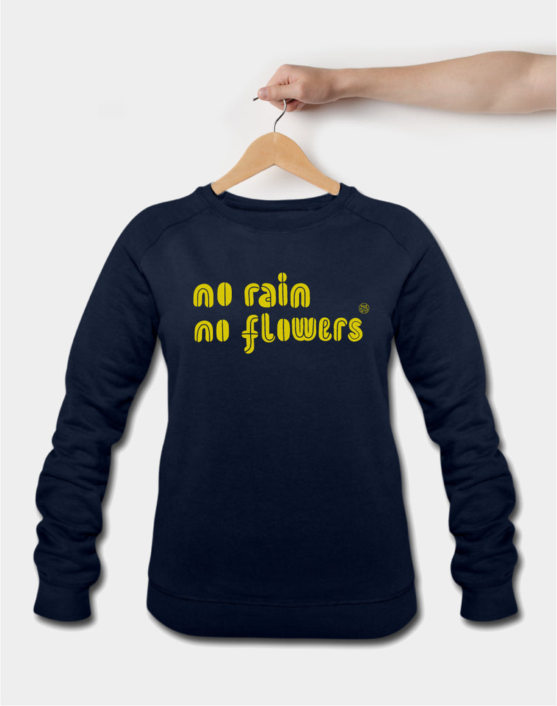 NO RAIN NO FLOWERS, navy
