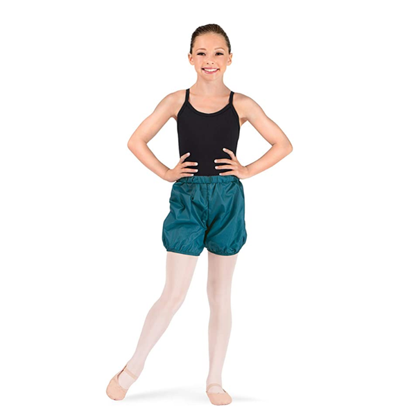Body Wrappers teal plastic shorts 046