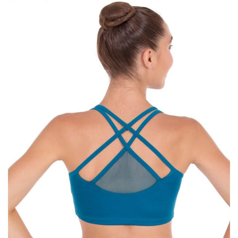 59891 Eurotard Womens Strappy Sports Bra with mesh back Detail