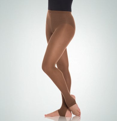 Body Wrappers knit waist stirrup dance tights A32