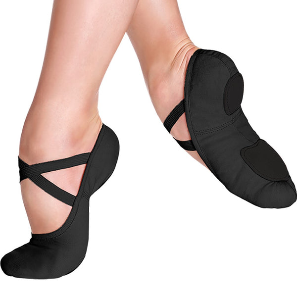 Black SD16 So Danca Canvas Ballet Shoes