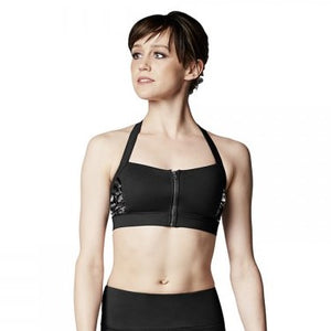 Bloch Zip Front Halter Top FT5052
