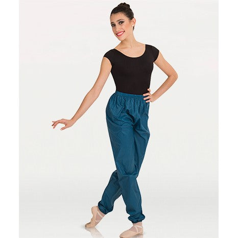 Body Wrappers Ankle Length Deep Teal Plastic Pants Adult Sizes