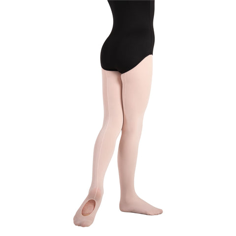 C45 Backseam Mesh Girls Convertible Dance Tights by Body Wrappers