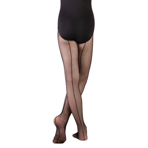 Body Wrappers C62 girls' backseam fishnet tights
