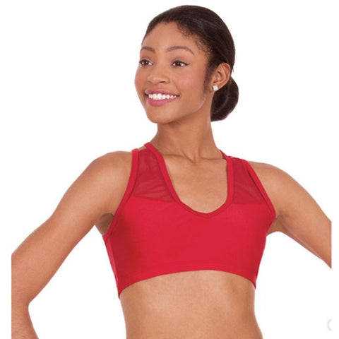 Eurotard Strappy Sports Bra Scarlet