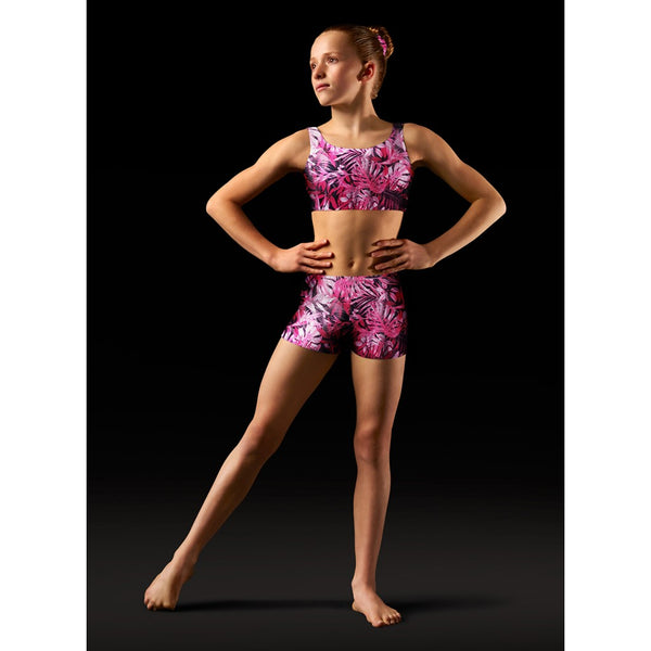 GB149C GB150C DANCE GYM TOP AND SHORTS SET