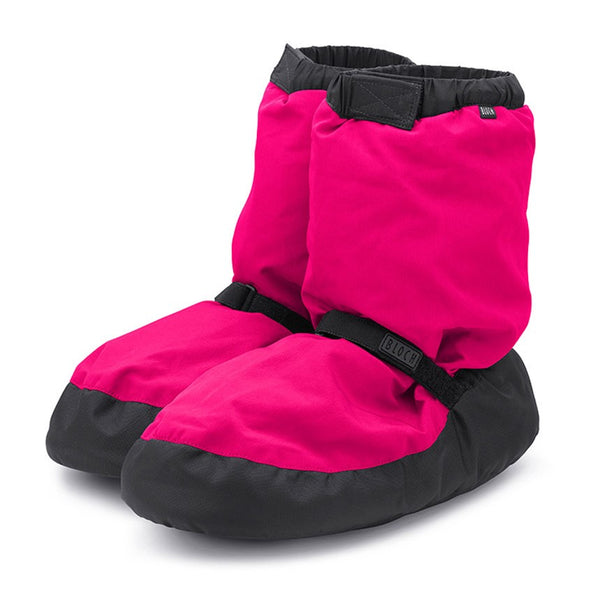 IM009 Bloch Warm Up Booties Candy Neon Pink