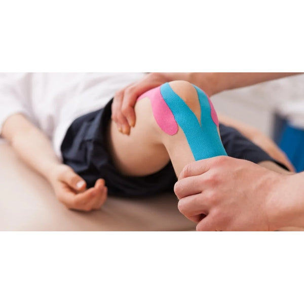 Balle Tape Kinesiology Tape in use on knee