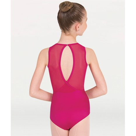 Fuchsia P1006 Body Wrappers Tiler Peck Collection Leotard with Mesh