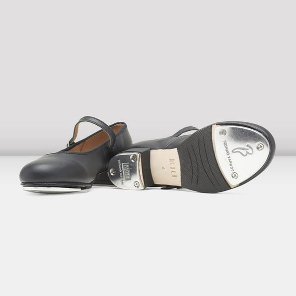 S0302G Black Tap On Leather Tap Shoes by Bloch