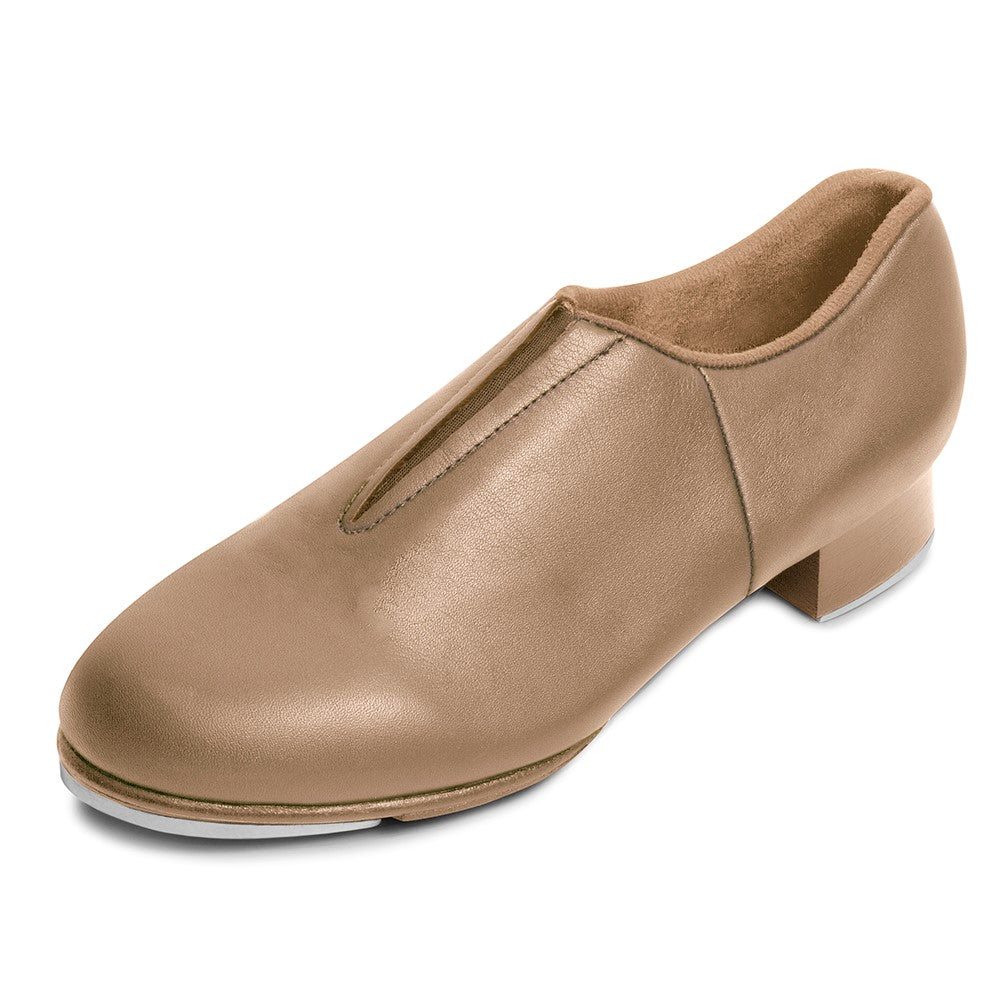 S0389 Bloch Split Sole Tap Shoes no laces Tan