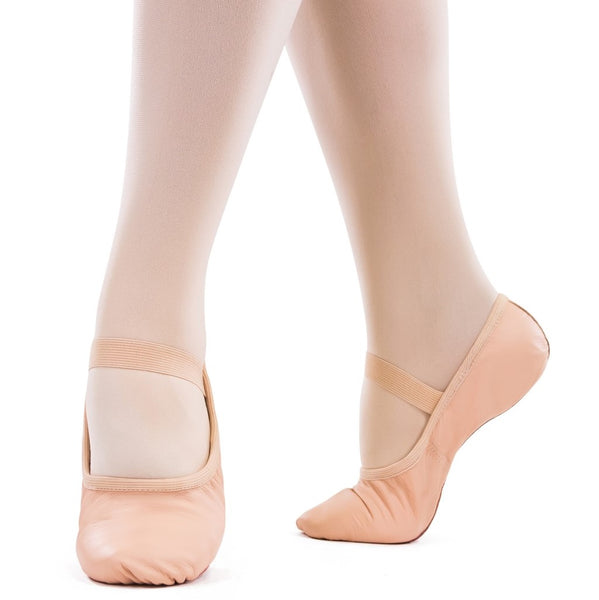 So Danca Full Sole Pink Leather Ballet Shoes