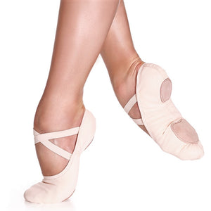 Canvas ballet shoes split sole light pink by So Danca