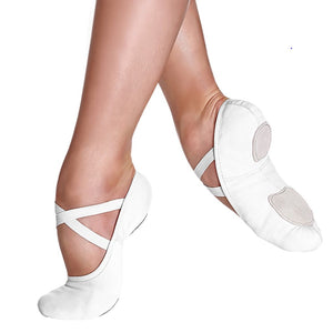 White So Danca Canvas Ballet Shoes by So Danca