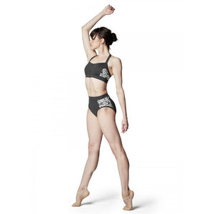 Bloch High Waist Brief Stripe Mesh FR5053