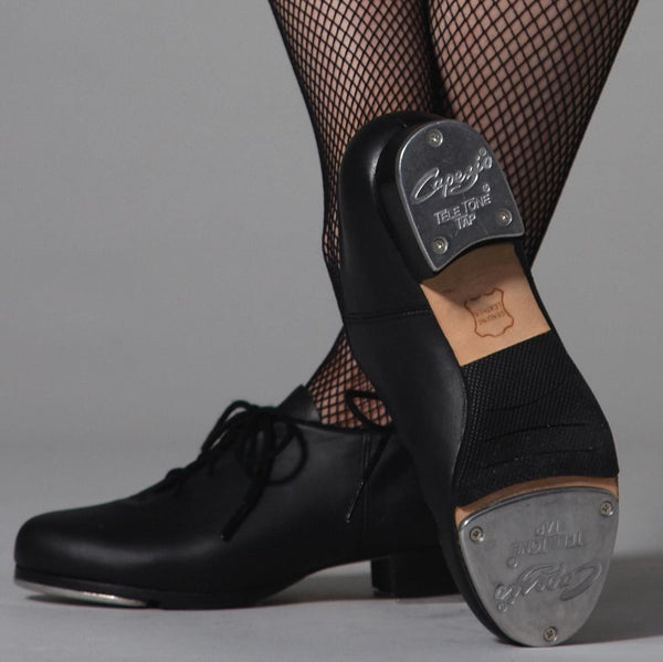 CG19 Capezio Black Full Leather Full Sole Tap Shoes