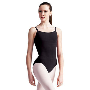 capezio cotton camisole leotard with bratek black cc110