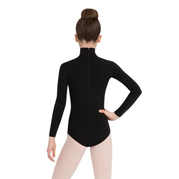 Child Capezio Turtleneck Long Sleeves Leotard w Snaps